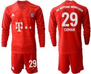 Wholesale Cheap Bayern Munchen #29 Coman Home Long Sleeves Soccer Club Jersey