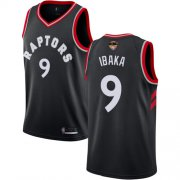 Wholesale Cheap Raptors #9 Serge Ibaka Black 2019 Finals Bound Women's Basketball Swingman Statement Edition Jersey