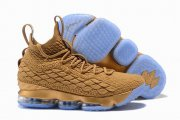 Wholesale Cheap Nike Lebron James 15 Air Cushion Shoes Bronze Gold