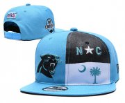 Wholesale Cheap Panthers Team Logo Blue Adjustable Hat YD