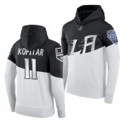Wholesale Cheap Adidas Los Angeles Kings #11 Anze Kopitar Men's 2020 Stadium Series White Black NHL Hoodie