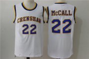 Wholesale Cheap Crenshaw 22 McCall White Stitched Movie Jersey