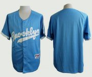 Wholesale Cheap Dodgers Blank Light Blue Cooperstown Stitched MLB Jersey