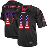 Wholesale Cheap Nike Cardinals #11 Larry Fitzgerald Black Men's Stitched NFL Elite USA Flag Fashion Jersey
