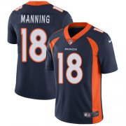 Wholesale Cheap Nike Broncos #18 Peyton Manning Blue Alternate Youth Stitched NFL Vapor Untouchable Limited Jersey