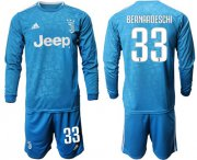 Wholesale Cheap Juventus #33 Bernardeschi Third Long Sleeves Soccer Club Jersey