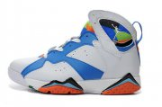 Wholesale Cheap Air Jordan 7 Retro Shoes White/blue-orange