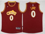Wholesale Cheap Men's Cleveland Cavaliers #0 Kevin Love Revolution 30 Swingman 2015-16 Retro Red Jersey