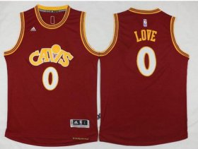 Wholesale Cheap Men\'s Cleveland Cavaliers #0 Kevin Love Revolution 30 Swingman 2015-16 Retro Red Jersey