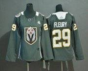 Wholesale Cheap Youth Vegas Golden Knights #29 Marc-Andre Fleury Gray Dia De Los Muertos Adidas Jersey