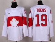 Wholesale Cheap Olympic 2014 CA. #19 Jonathan Toews White Stitched NHL Jersey