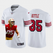 Cheap San Francisco 49ers #85 George Kittle Nike Team Hero 1 Rush Vapor Limited NFL Jersey White