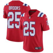 Wholesale Cheap Nike Patriots #25 Terrence Brooks Red Alternate Men's Stitched NFL Vapor Untouchable Limited Jersey