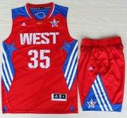 Wholesale Cheap 2013 All-Star Western Conference Oklahoma City Thunder 35 Kevin Durant Red Revolution 30 Swingman Suits