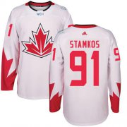 Wholesale Cheap Team Canada #91 Steven Stamkos White 2016 World Cup Stitched Youth NHL Jersey