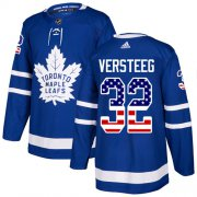 Wholesale Cheap Adidas Maple Leafs #32 Kris Versteeg Blue Home Authentic USA Flag Stitched NHL Jersey