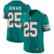 Wholesale Cheap Nike Dolphins #25 Xavien Howard Aqua Green Alternate Men's Stitched NFL Vapor Untouchable Limited Jersey