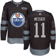 Wholesale Cheap Adidas Oilers #11 Mark Messier Black 1917-2017 100th Anniversary Stitched NHL Jersey