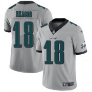 Wholesale Cheap Nike Eagles #18 Jalen Reagor Silver Men's Stitched NFL Limited Inverted Legend Jersey