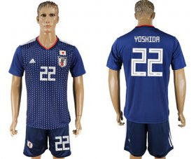 Wholesale Cheap Japan #22 Yoshida Home Soccer Country Jersey
