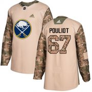 Wholesale Cheap Adidas Sabres #67 Benoit Pouliot Camo Authentic 2017 Veterans Day Stitched NHL Jersey