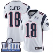Wholesale Cheap Nike Patriots #18 Matt Slater White Super Bowl LIII Bound Youth Stitched NFL Vapor Untouchable Limited Jersey