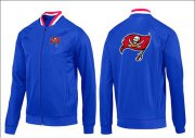 Wholesale Cheap NFL Tampa Bay Buccaneers Team Logo Jacket Blue_1