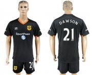 Wholesale Cheap Hull City #21 Dawson Away Soccer Club Jersey