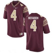 Wholesale Cheap Men's Florida State Seminoles #4 Tarvarus McFadden Red Stitched College Football 2016 Nike NCAA Jersey