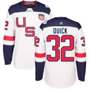 Wholesale Cheap Team USA #32 Jonathan Quick White 2016 World Cup Stitched Youth NHL Jersey