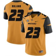 Wholesale Cheap Missouri Tigers 23 Johnny Roland Gold Nike College Football Jersey