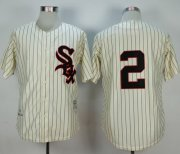 Wholesale Cheap Mitchell And Ness 1959 White Sox #2 Nellie Fox Cream Stitched MLB Jersey