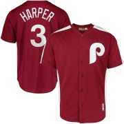 Wholesale Cheap Philadelphia Phillies #3 Bryce Harper Majestic 1979 Saturday Night Special Cool Base Cooperstown Player Jersey Maroon