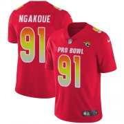 Wholesale Cheap Nike Jaguars #91 Yannick Ngakoue Red Men's Stitched NFL Limited AFC 2018 Pro Bowl Jersey