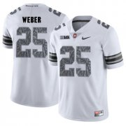 Wholesale Cheap Ohio State Buckeyes 25 Mike Weber White Shadow College Football Jersey
