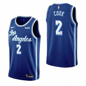 Wholesale Cheap Los Angeles Lakers #2 Quinn Cook Blue 2019-20 Classic Edition Stitched NBA Jersey