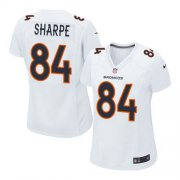 Wholesale Cheap Nike Broncos #84 Shannon Sharpe White Women's Stitched NFL Game Event Jersey
