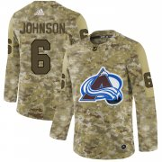 Wholesale Cheap Adidas Avalanche #6 Erik Johnson Camo Authentic Stitched NHL Jersey
