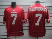 Wholesale Cheap 49ers #7 Colin Kaepernick Red Stitched NFL Jersey