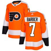 Wholesale Cheap Adidas Flyers #7 Bill Barber Orange Home Authentic Stitched NHL Jersey
