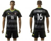 Wholesale Cheap Wales #16 Ledley Black Away Soccer Club Jersey