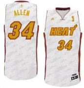 Wholesale Cheap Miami Heat #34 Ray Allen Revolution 30 Swingman White With Gold Jersey