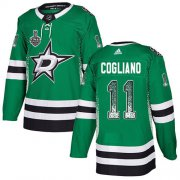 Wholesale Cheap Adidas Stars #11 Andrew Cogliano Green Home Authentic Drift Fashion 2020 Stanley Cup Final Stitched NHL Jersey