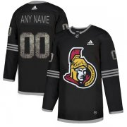 Wholesale Cheap Men's Adidas Senators Personalized Authentic Black_1 Classic NHL Jersey