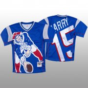 Wholesale Cheap NFL New England Patriots #15 N'Keal Harry Blue Men's Mitchell & Nell Big Face Fashion Limited NFL Jersey