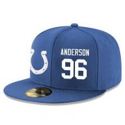 Wholesale Cheap Indianapolis Colts #96 Henry Anderson Snapback Cap NFL Player Royal Blue with White Number Stitched Hat