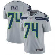 Wholesale Cheap Nike Seahawks #74 George Fant Grey Alternate Men's Stitched NFL Vapor Untouchable Limited Jersey