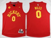 Wholesale Cheap Men's Indiana Pacers #0 C. J. Miles Revolution 30 Swingman 2015-16 Retro Red Jersey