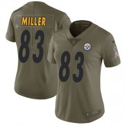 Wholesale Cheap Nike Steelers #83 Heath Miller Olive Women's Stitched NFL Limited 2017 Salute to Service Jersey