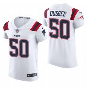 Cheap New England Patriots #50 Kyle Dugger Nike Men's White Team Color Men's Stitched NFL 2020 Vapor Untouchable Elite Jersey